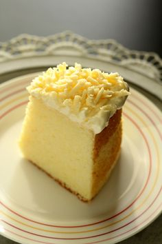 Parmesan chiffon cake - light and airy chiffon cake with a tint of Parmesan cheese, and topped with shredded Parmesan. Amazing recipe that you have to try.