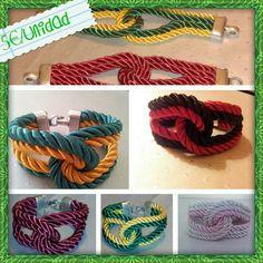 Pulseras lisas o combinadas, personalizables en el color que mas te guste. Wire Jewelry, Friendship Bracelets, Crochet Necklace, Diy, Color, Necklaces, Bangle Bracelets, Manualidades, Bricolage