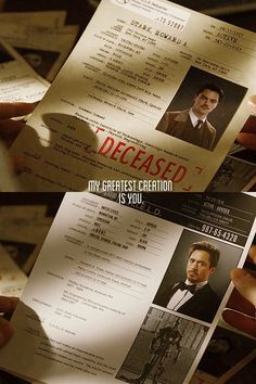 """""""My greatest creation...is you."""" See, this is why people need to watch Iron Man 2, and just enjoy it. Because Howard Stark is awesome."""