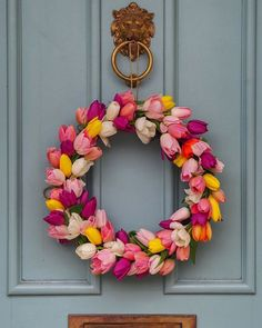 🌸🌿 To celebrate our love for all of your beautiful we're giving 5 of you 5 litres of paint in the colour of Front Door Design, Front Door Colors, Farrow And Ball Paint, Farrow Ball, Tulip Wreath, Floral Wreath, Tape Painting, Wall Exterior, Painted Front Doors