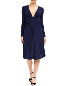 Exclusively designed by Daniella Helayel for Monsoon. A timelessly chic addition to your style repertoire, the Gisele belted dress is crafted with a flattering v-shaped neckline and cross-over ties that accentuate the narrowest part of your silhouette. Full-length sleeves create an elegant finish. Features a side zip fastening. Model wears UK 8/UK S/EU 36/US 4. Model height is 175 cm/5'9.