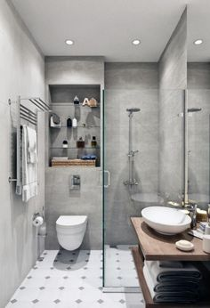 Small Bathroom Design Ideas for Home. Whether it is a tiny room or a shower stall that is essentially on top of the toilet (been there!), a small bathroom will make certain morning and evening rituals far less attractive and, most importantly, less effective. But hear us out before you toss in the towel and call a broker to help you find a new place – you just need some tips on strategic styling.