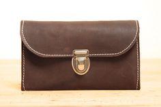 Portemonnaies - PLASTIKFREI Geldbeutel aus Leder und Wollfilz - ein Designerstück von KHAFFEE bei DaWanda