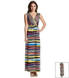 Notations® Multi Print Maxi Dress   Younkers
