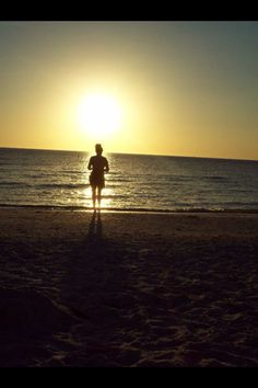 My glorious Mom, on the beach in Florida <3