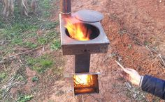 Big Fire Stove Set, Stainless steel rocket stove, portable outdoor woodfired camp stove. Big Fire Stove Set, Stainless steel rocket stove, portable outdoor woodfired camp stove. [BFS-3] - $399.00 :