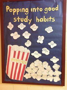 Popcorn BB- Study Habits Board