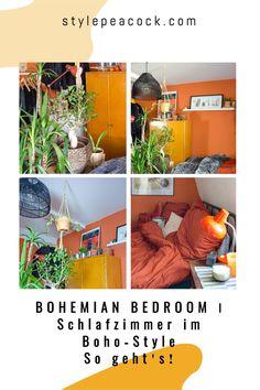 BOHEMIAN BEDROOM | GEMÜTLICHES SCHLAFZIMMER: SO GEHT'S! | Stylepeacock | Happy Boho Interior & Lifestyle Bohemian Bedroom, der Trend fürs Schlafzimmer. Gemütlichkeit & Boho Style für dein Schlafzimmer mit Boho-Flair. Tolle Inspirationen rund um Wandfarben, Bett, Möbel und Pflanzen im Schlafzimmer. Gestalte deine Wand mit Boho-Elementen. [beinhaltet unbezahlte werbung & affiliate links]#schlafzimmer #bedroom #bohemianbedroom #bohostyle #wandstreichen #DIYbedroom #bohobedroom Modern Home Furniture, Boho Fashion, Interior Design, Bedroom, Projects, Home Decor, Inspiration, Style, Bedroom Plants