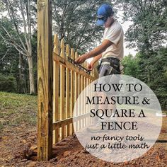 How to measure and square a fence layout. A practical application of math and the Pythagorean Theorem. The picket fence for the train depot.