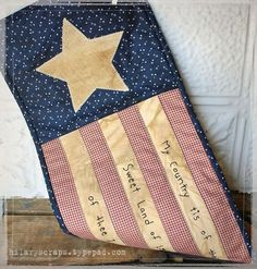 Hilaryscraps on typepad - Mini Americana table runner