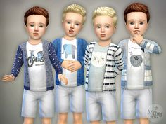 The Sims Resource: Cardigan for Toddler Boys P01 by lillka • Sims 4 Downloads