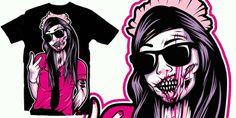 Underground Street Wear 'Pink Zombie' F.B- blankoclothinunitedkingdom