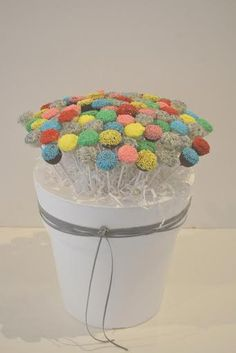 colorful cake pops!