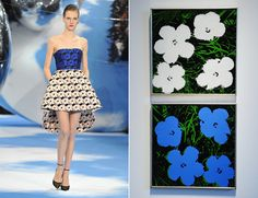 Christian Dior Fall/Winter 2013 and Andy Warhol's Flowers