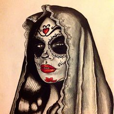 @kevindaviestattoo #drawing #sketch #dayofthedead #ink #tattoo #apprentice #like #follow #igaddict Kevin Davies, Tattoo Apprentice, Tattoo Art, Halloween Face Makeup, Sketch, Tattoos, Drawings, Instagram Posts, Sketch Drawing