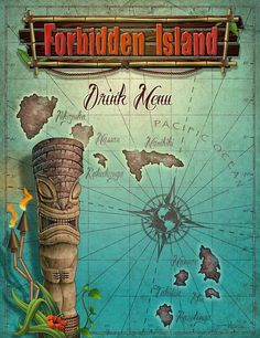 Forbidden Island Drink menu #hawaiiantattoostiki