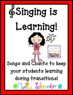 Singing is Learning is a complication of many of the songs and chants that I use during the school year to keep my students focused and learning. Singing/Chanting is a huge part of my management system. I never send my students back to their seats with out a chant to keep their mouths busy and their minds learning. Included in this 34 page file you will find: 10 different classroom management song posters $5.59