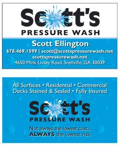 16 Best Pressure Washing Business Cards