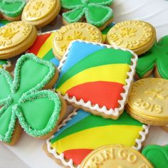 Decorated Biscoff Cut-Out Cookies for St. Patrick's Day