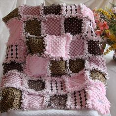 Custom order baby rag quilt http://www.quiltsjust4kids.com/baby-quilts-rag-quilt/