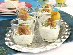 Rezepte im Glas - raffinierte Snacks mit Durchblick - speckkartoffeln-quark