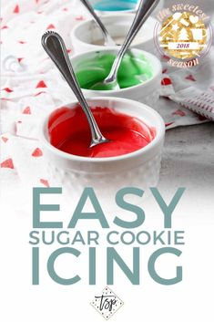 christmas cookie frosting Whether youre baking for the holidays, baking for your kids class or simply baking just because, this Easy Sugar Cookie Icing is a simple, go-to recipe to make decadently sweet icing for any cookies! Christmas Cookie Icing, Easy Holiday Cookies, Easy Sugar Cookies, Cookies For Kids, Sugar Cookies Recipe, Frosting For Sugar Cookies, Simple Icing Recipe, Easy Icing Recipe For Cookies, Super Cookies
