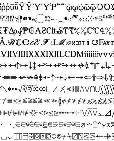 symbol font art - Google Search