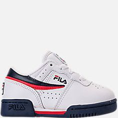 Boys' Toddler Fila Original Fitness Casual Shoes Fila Original Fitness, Toddler Adidas, Adidas Originals, The Originals, Smooth Leather, Scarlet, Toddler Boys, Casual Shoes, Latest Fashion