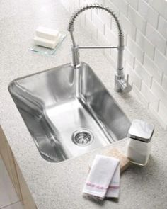 Blanco Canada's Photo: The BLANCO Practika laundry/utility sink features integrated washboard for scrubbing.