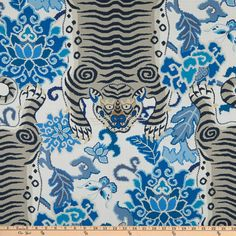 P Kaufmann Tiger Eye Blue Basketweave Moon - Fabric.com Bird Curtains, Bedroom Drapes, White Bedroom, Blue Tigers, Home Decor Fabric, Upholstered Furniture, How To Dye Fabric, Amazon Art, Fabric Online