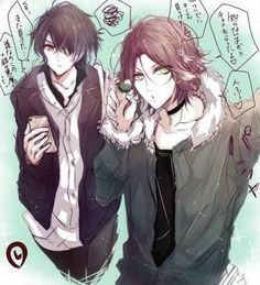 Find images and videos about diabolik lovers, laito sakamaki and kino sakamaki on We Heart It - the app to get lost in what you love. Manga Anime, Anime Guys, Mystic Messenger, Yuma Diabolik Lovers, Rejet, Hot Vampires, Yoongi, Fanart, Attack On Titan Anime