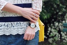 fashion blogger Marieluvpink wearing the Sun and Moon ring