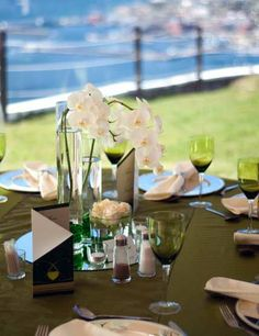 Blue Horizon Estate Make it Memorable, Wedding Venue in Simon's Town Cape Town Wedding Venues, Wedding Cape, Beautiful Wedding Venues, Dream Wedding, Destination Wedding, How To Memorize Things, Bloom, Table Decorations, Weddings