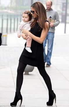 Victoria Beckham and Harper Seven ... Styling' Mom on the go !  Every time.