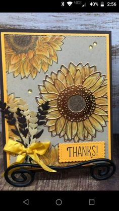 Sunflower Cards, Pumpkin Cards, Sun Flowers, Stamping Up Cards, Thanksgiving Cards, Cards For Friends, Handmade Birthday Cards, Fall Cards, Stamp Sets