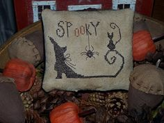 New Pattern- Spooky Halloween Pillow Tuck E Pattern PDF