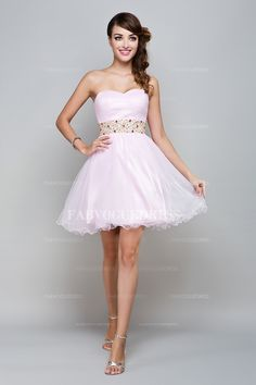 Ball Gown Sweetheart Short-Mini Tulle Prom Dress $213.99 Short Bridesmaid Dress