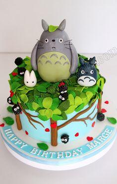 Tarta Totoro decorada