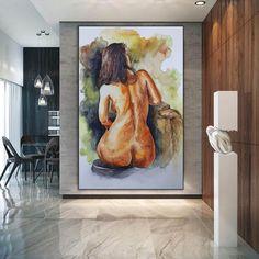 Original Nude Art Nude Body Painting Nude Women Naked image 1 Large Painting, Acrylic Painting Canvas, Body Painting, Canvas Art, Office Wall Art, Office Decor, Bathroom Wall Art, Modern Wall Decor, Texture Art