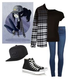 """""""Dream outfit #3"""" by coffeeismysoul ❤ liked on Polyvore featuring Paige Denim, River Island, H&M, Converse and Billabong"""