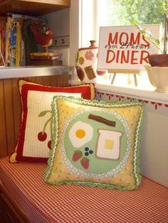 Clever handmade pillow!