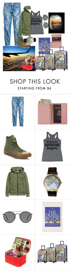 """""""Travel"""" by cristinaconst ❤ liked on Polyvore featuring J.Crew, Royce Leather, Converse, Ray-Ban, Lonely Planet and Mia Toro"""