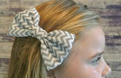 Chevron Chiffon 5 Inch Hair Bows 70% off at Groopdealz