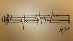 Music is life ... (I've never before seen anything I'd consider having tattooed, until THIS.)