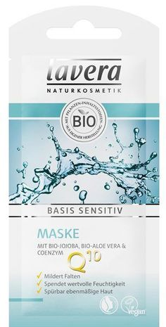 Lavera Basis Sensitive Mask - The Basis Sensitive Mask Bio-Jojoba, Bio-Aloe Vera & Coenzym is a gentle, moisturizing care and - Leave In, Organic Face Products, Organic Skin Care, Natural Essential Oils, Natural Oils, Jojoba Oil Uses, Coenzym Q10, Bio Tee, Homemade Skin Care