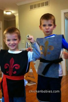 Easy diy knight costume no sew tutorial if i were to ever create cute and easy no sew knight costume is great for halloween or dress up fun solutioingenieria Choice Image