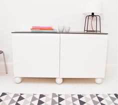 Shoe your sideboard with Otto White. www.prettypegs.com