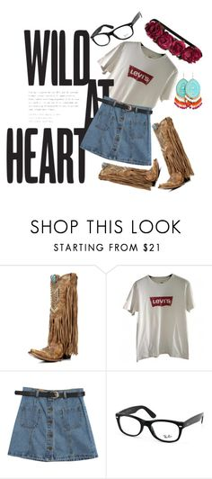 """""""Untitled #4"""" by iamcelinenguyen ❤ liked on Polyvore featuring Levi's, Chicnova Fashion, Ray-Ban and H&M"""