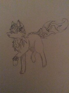 Animal jam Arctic wolf drawing requested by Kira Claypoole. Drawn by warriorcats609