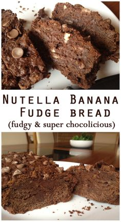 NUTELLA BANANA FUDGE BREAD... This bread is so insanely choco-licious that it can put you in a chocolate coma...lol.